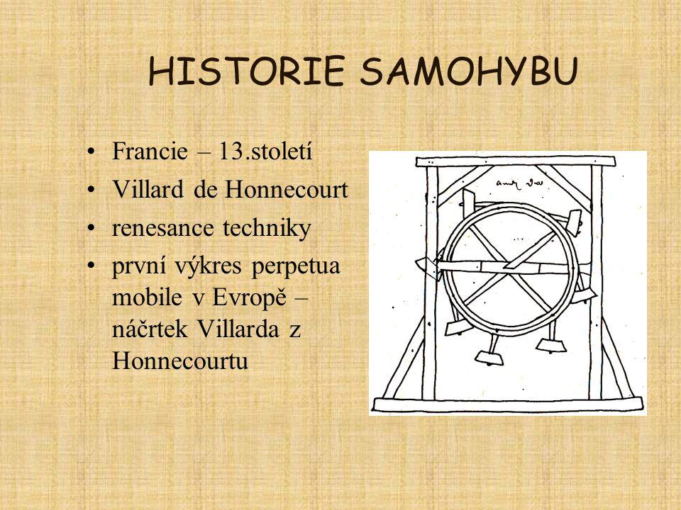 HISTORIE SAMOHYBU Francie – 13.století Villard de Honnecourt
