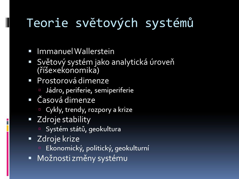 Teorie světových systémů