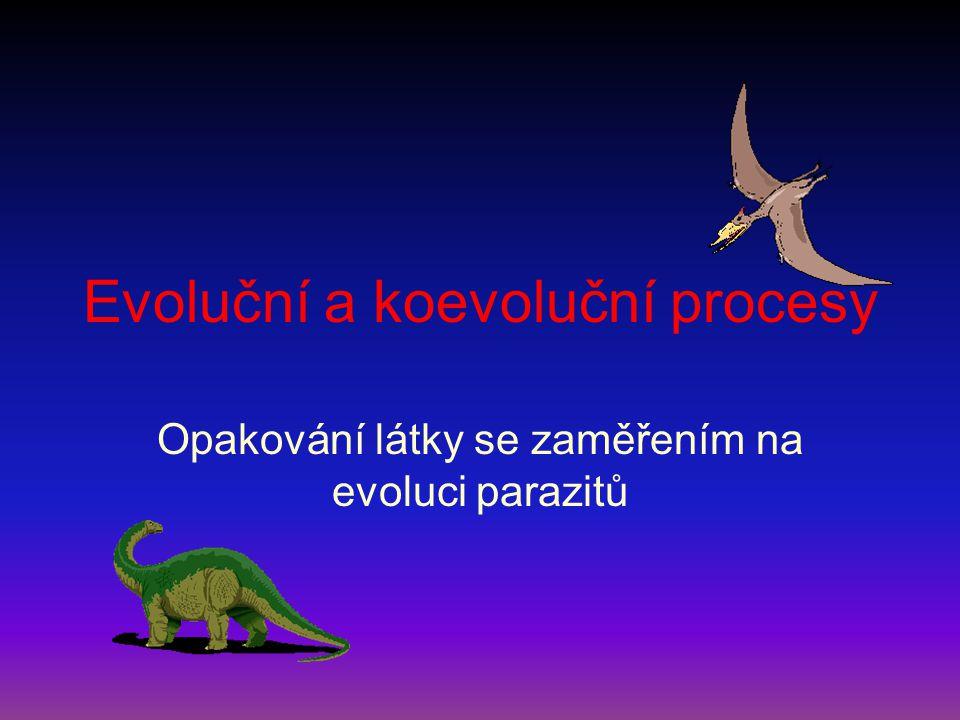 Evoluční a koevoluční procesy