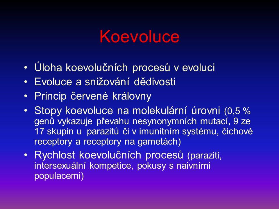 Koevoluce Úloha koevolučních procesů v evoluci