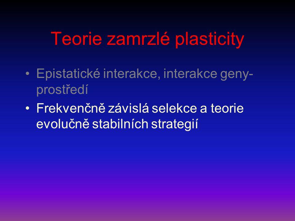 Teorie zamrzlé plasticity