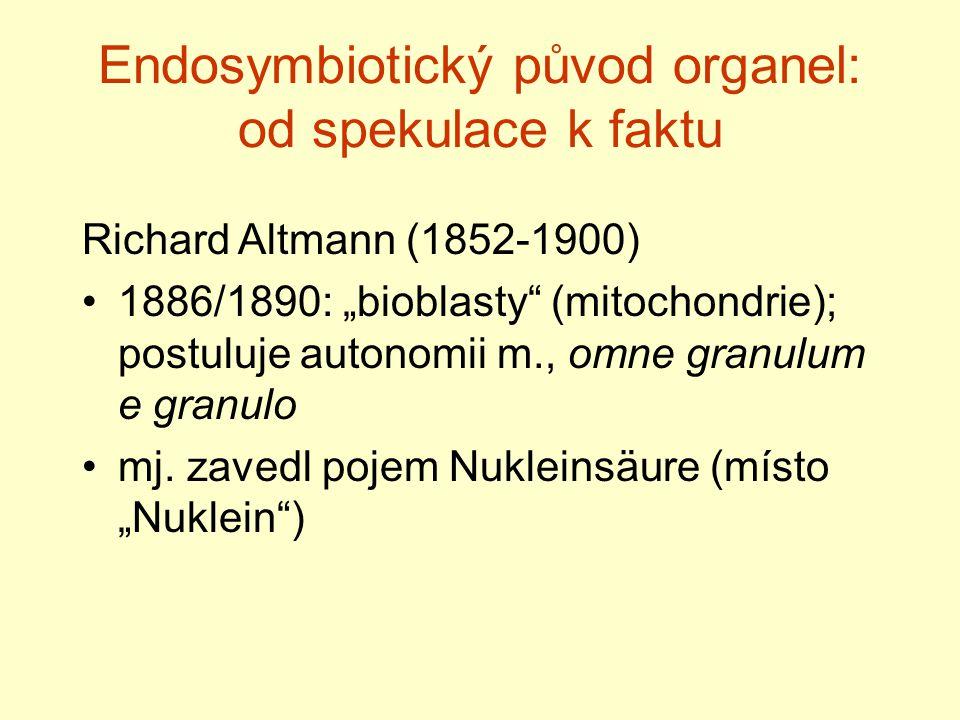 Endosymbiotický původ organel: od spekulace k faktu