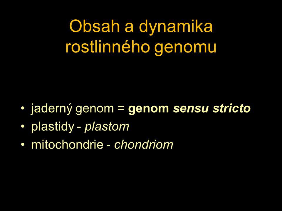 Obsah a dynamika rostlinného genomu