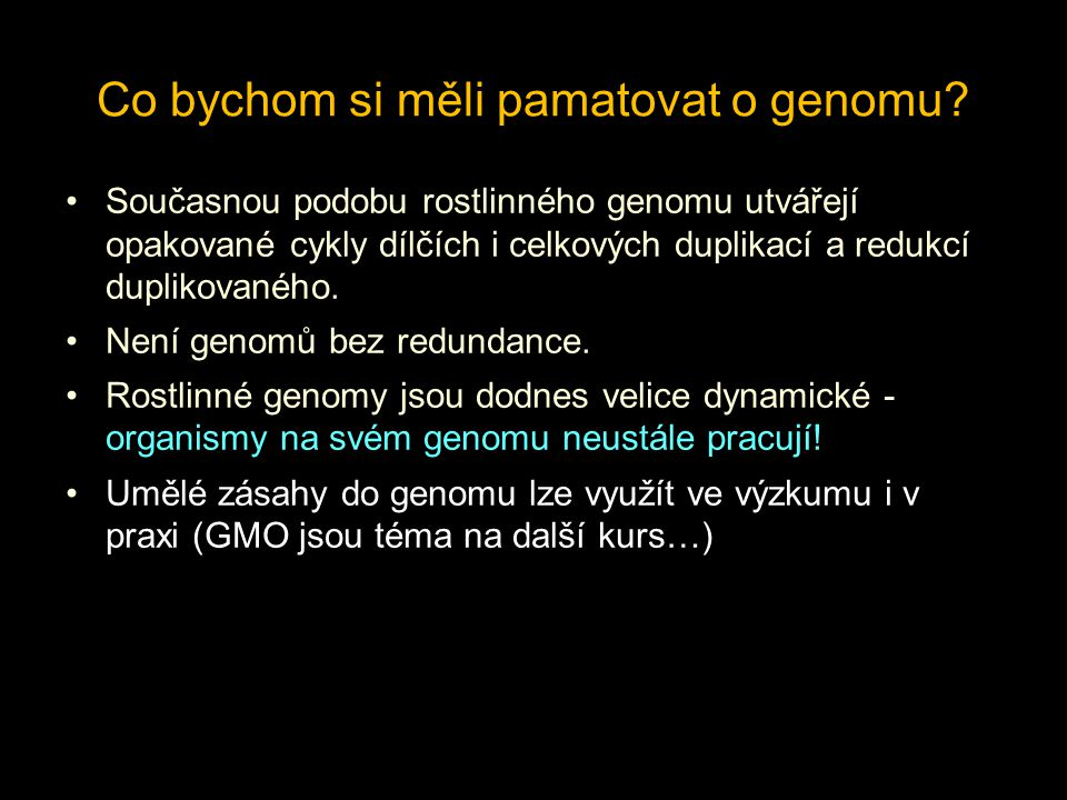 Co bychom si měli pamatovat o genomu