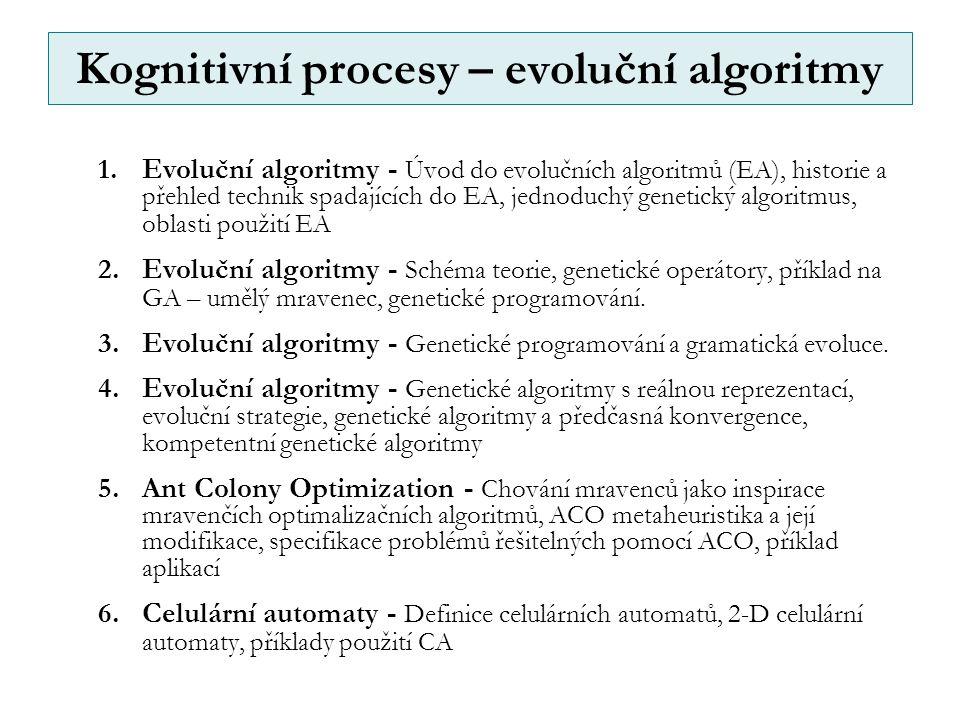 Kognitivní procesy – evoluční algoritmy