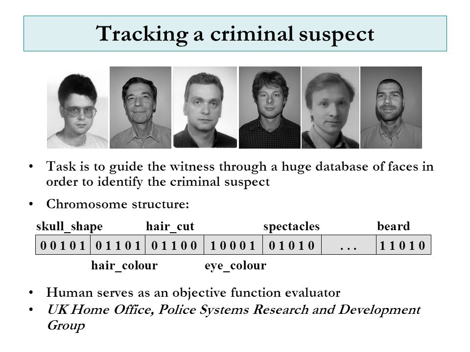 Tracking a criminal suspect