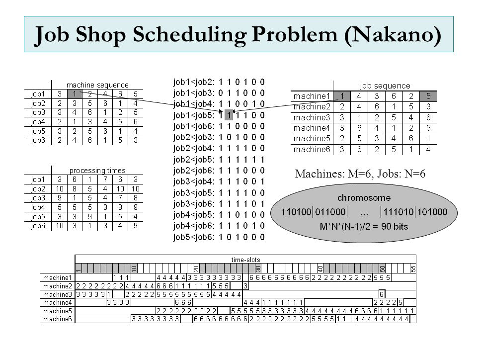 Job Shop Scheduling Problem (Nakano)