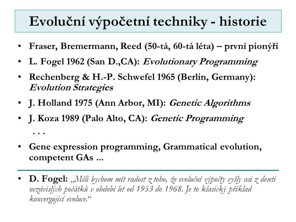 Evoluční výpočetní techniky - historie