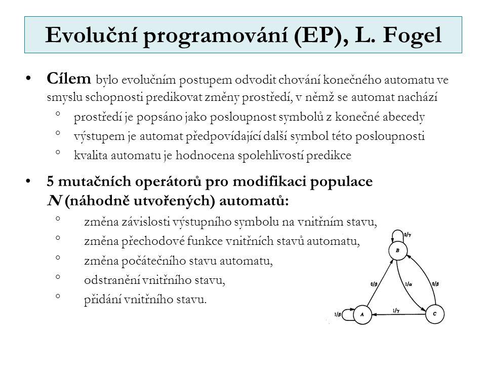 Evoluční programování (EP), L. Fogel