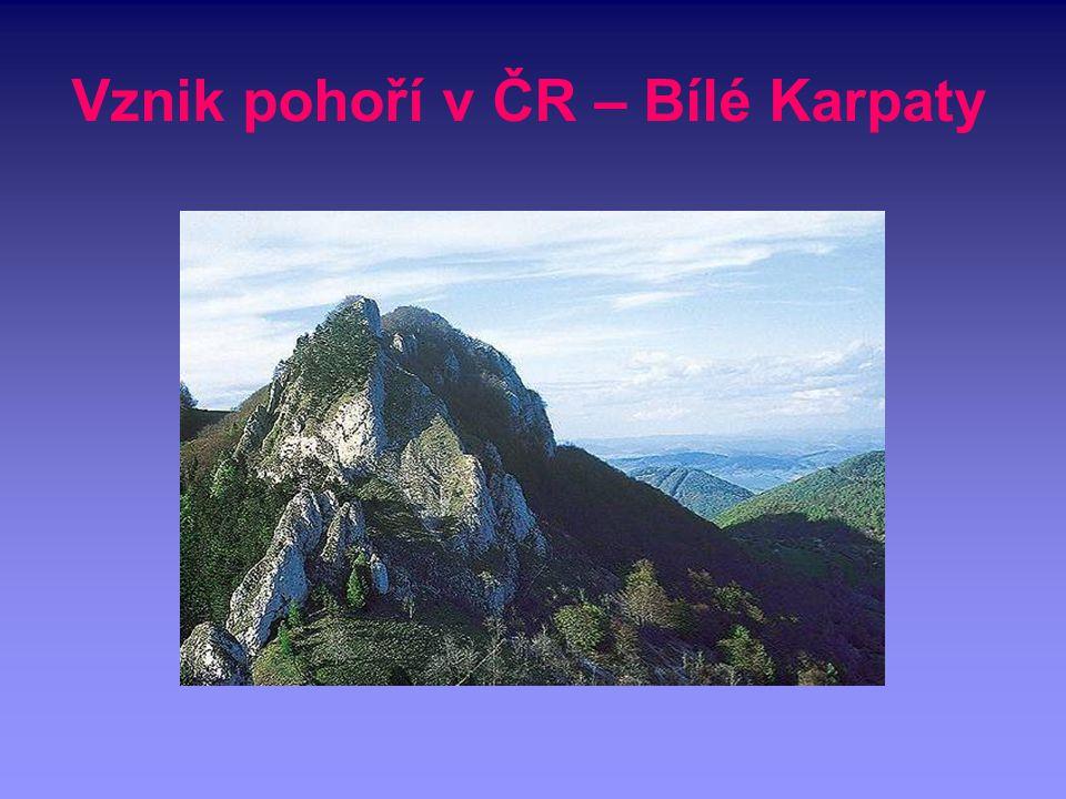 Vznik pohoří v ČR – Bílé Karpaty