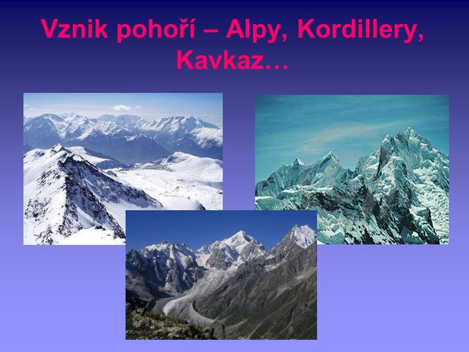 Vznik pohoří – Alpy, Kordillery, Kavkaz…