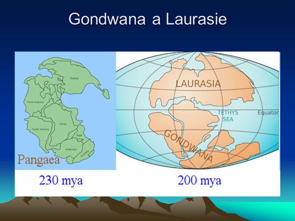 Gondwana a Laurasie