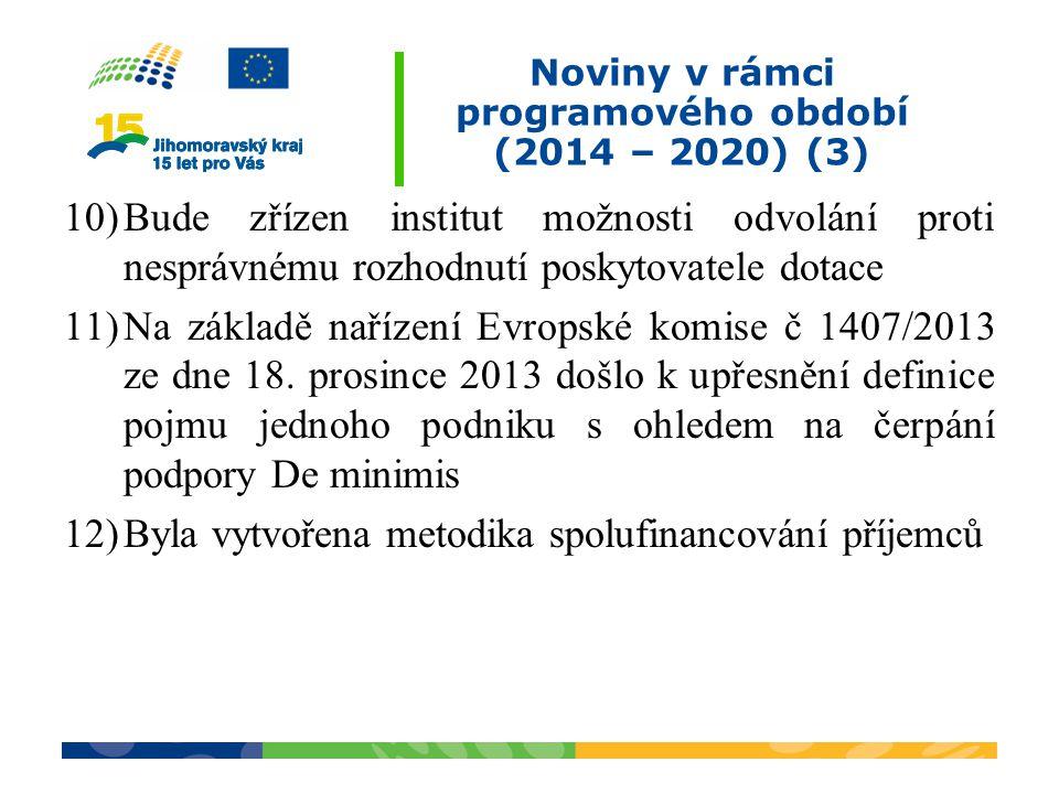 Noviny v rámci programového období (2014 – 2020) (3)