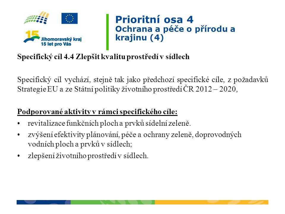 Prioritní osa 4 Ochrana a péče o přírodu a krajinu (4)