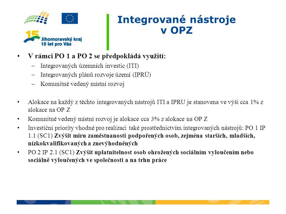 Integrované nástroje v OPZ