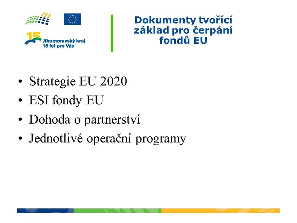 Dokumenty tvořící základ pro čerpání fondů EU