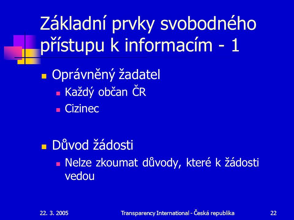 Základní prvky svobodného přístupu k informacím - 1