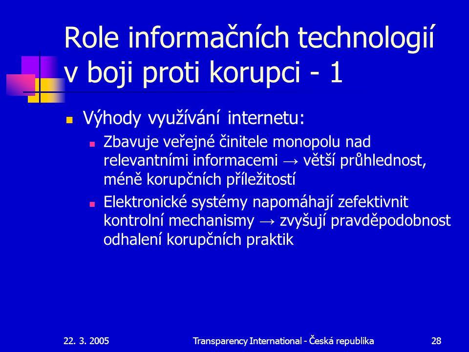 Role informačních technologií v boji proti korupci - 1