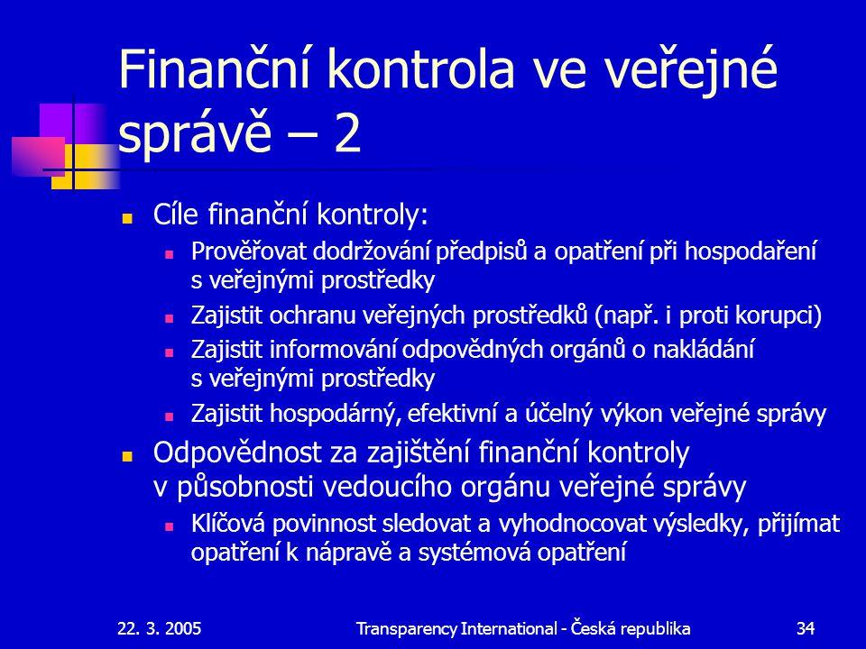 Finanční kontrola ve veřejné správě – 2
