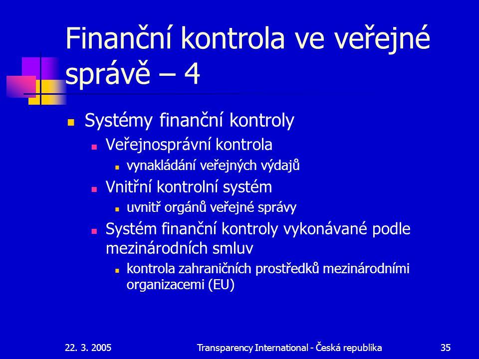 Finanční kontrola ve veřejné správě – 4
