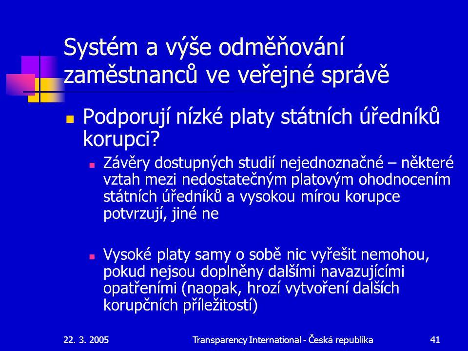 Systém a výše odměňování zaměstnanců ve veřejné správě