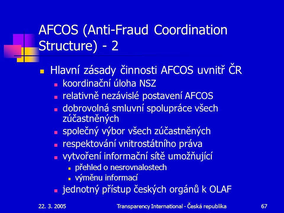 AFCOS (Anti-Fraud Coordination Structure) - 2