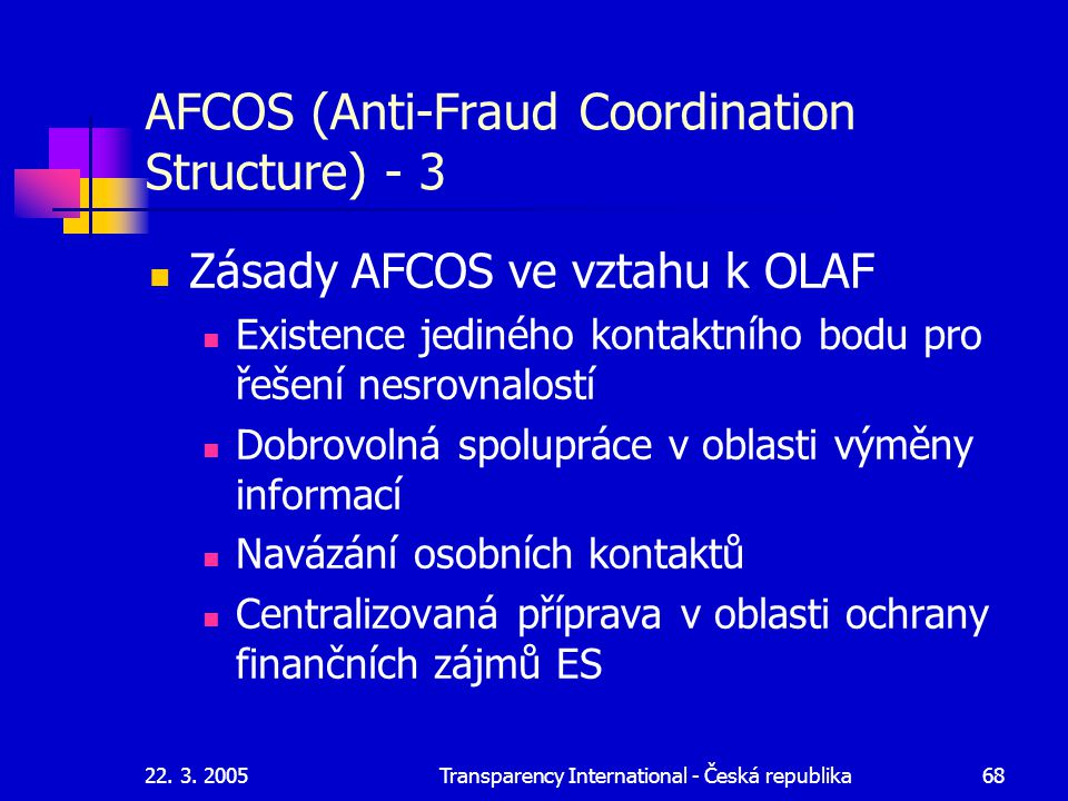 AFCOS (Anti-Fraud Coordination Structure) - 3