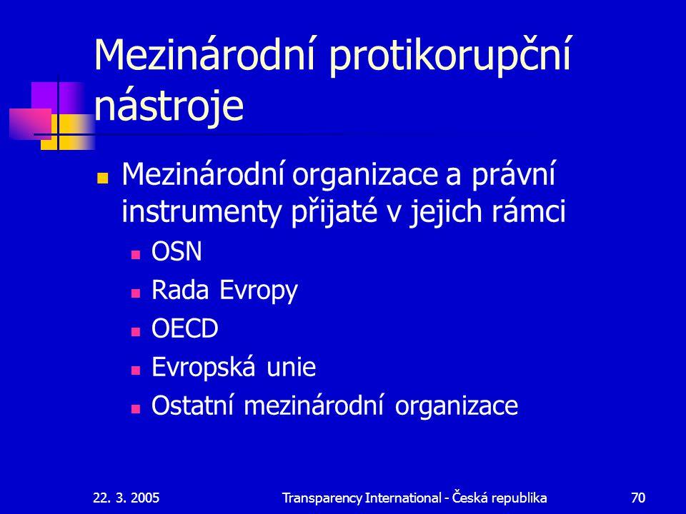 Mezinárodní protikorupční nástroje