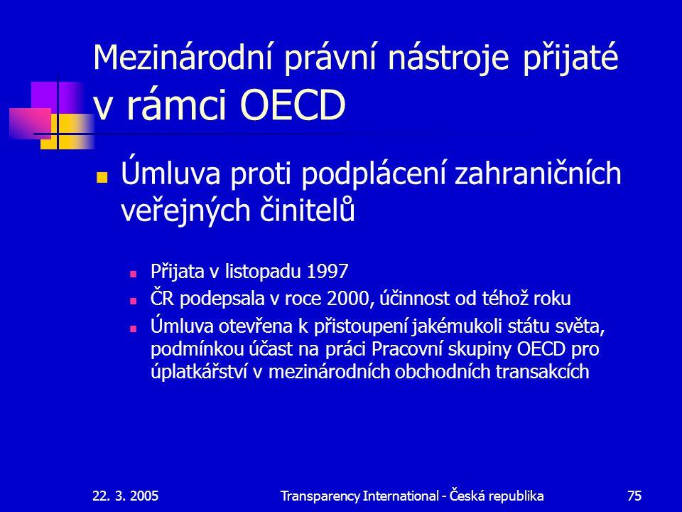 Mezinárodní právní nástroje přijaté v rámci OECD