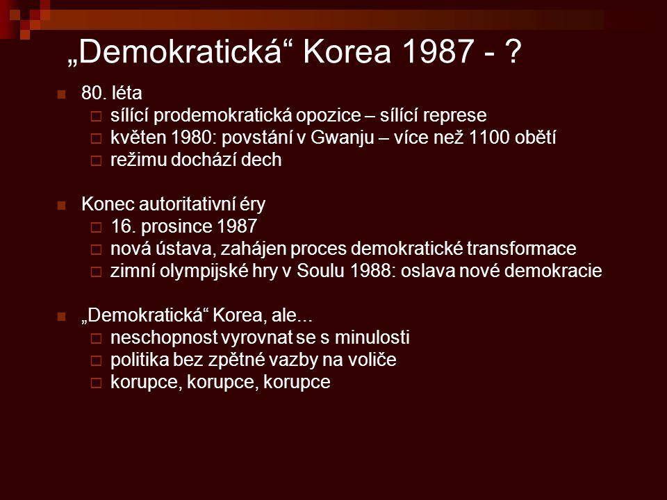 """""""Demokratická Korea 1987 -"""