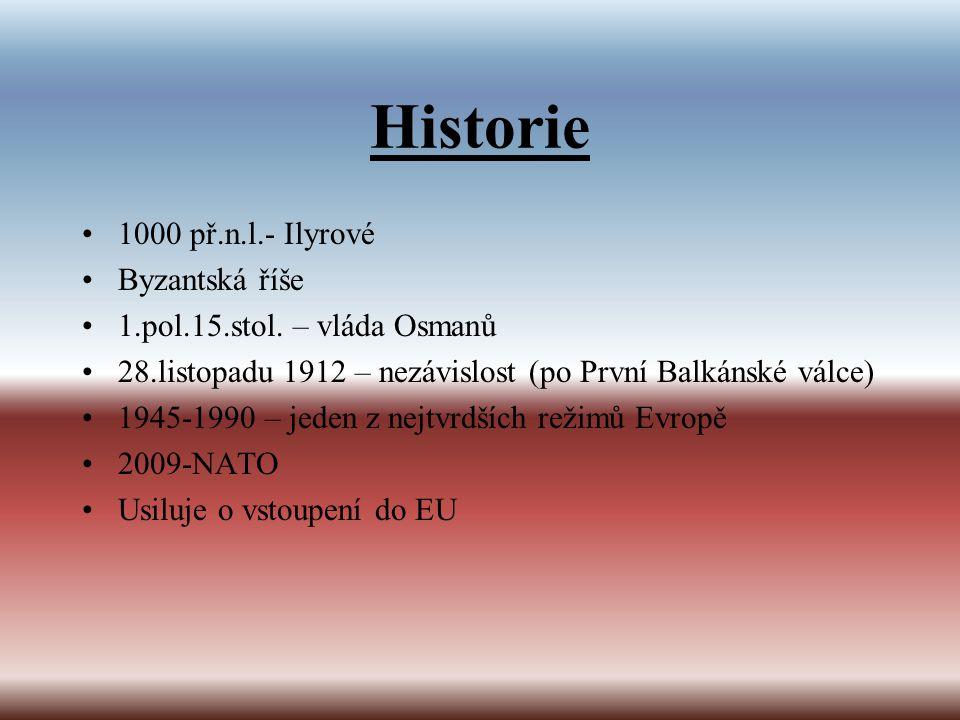Historie 1000 př.n.l.- Ilyrové Byzantská říše