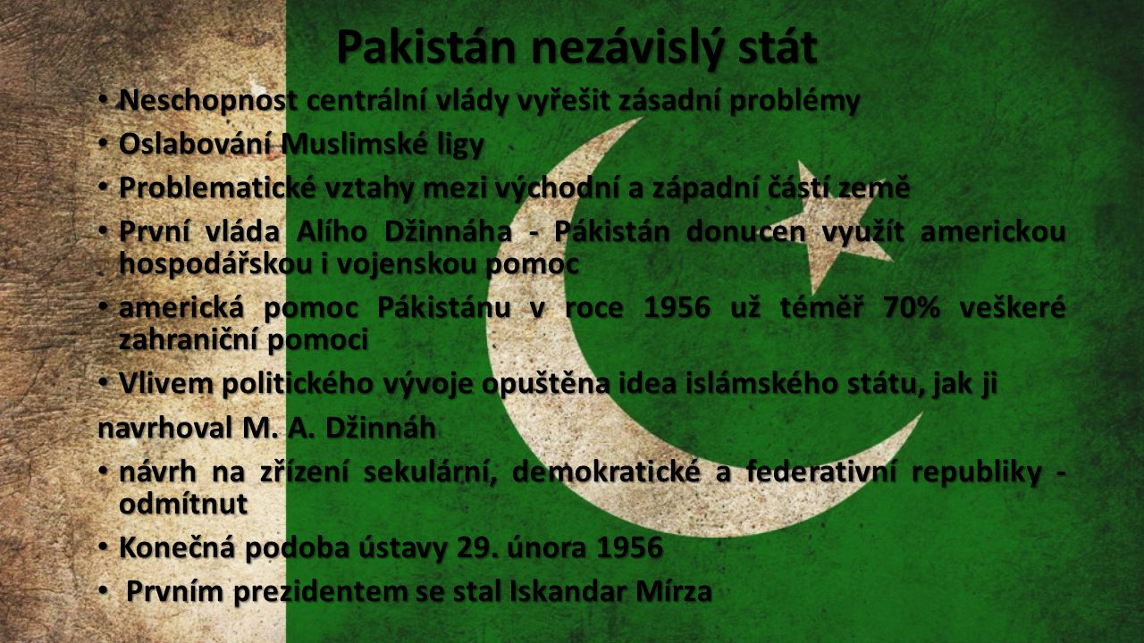 Pakistán nezávislý stát