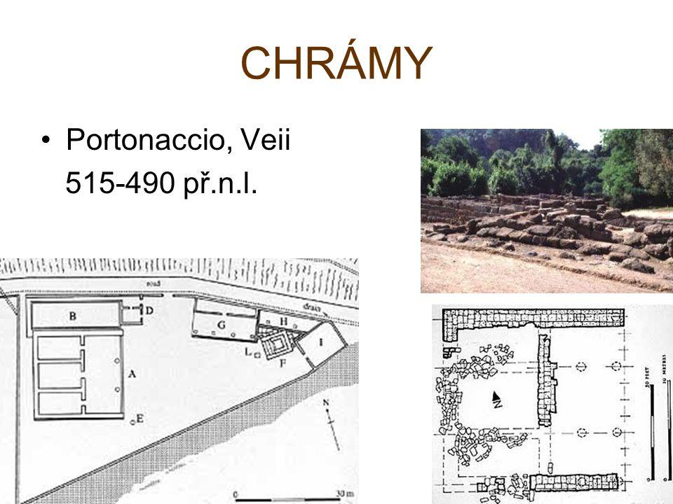 CHRÁMY Portonaccio, Veii 515-490 př.n.l.