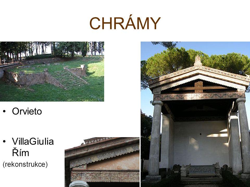 CHRÁMY Orvieto VillaGiuliaŘím (rekonstrukce)