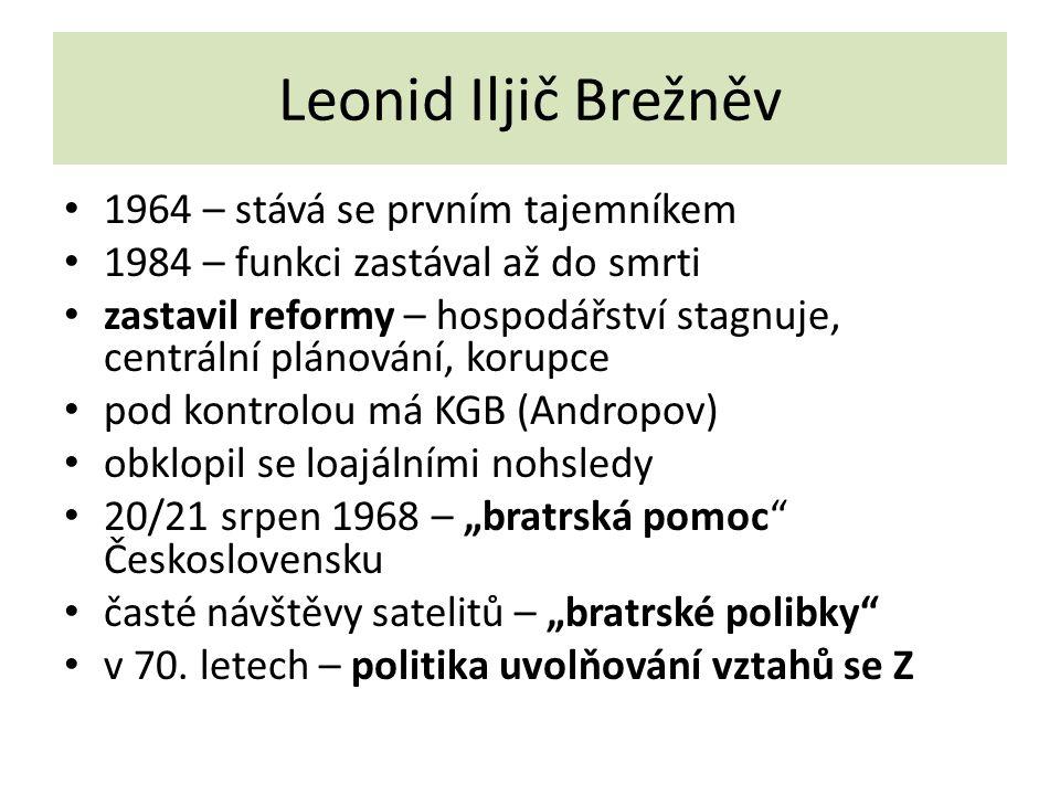 Leonid Iljič Brežněv 1964 – stává se prvním tajemníkem