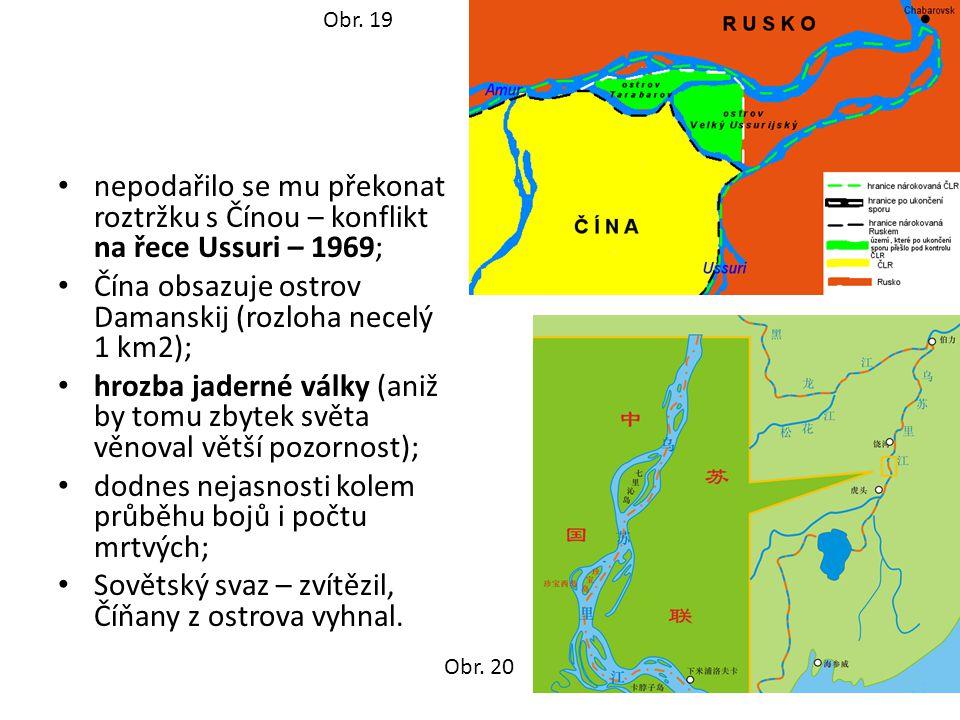 Čína obsazuje ostrov Damanskij (rozloha necelý 1 km2);