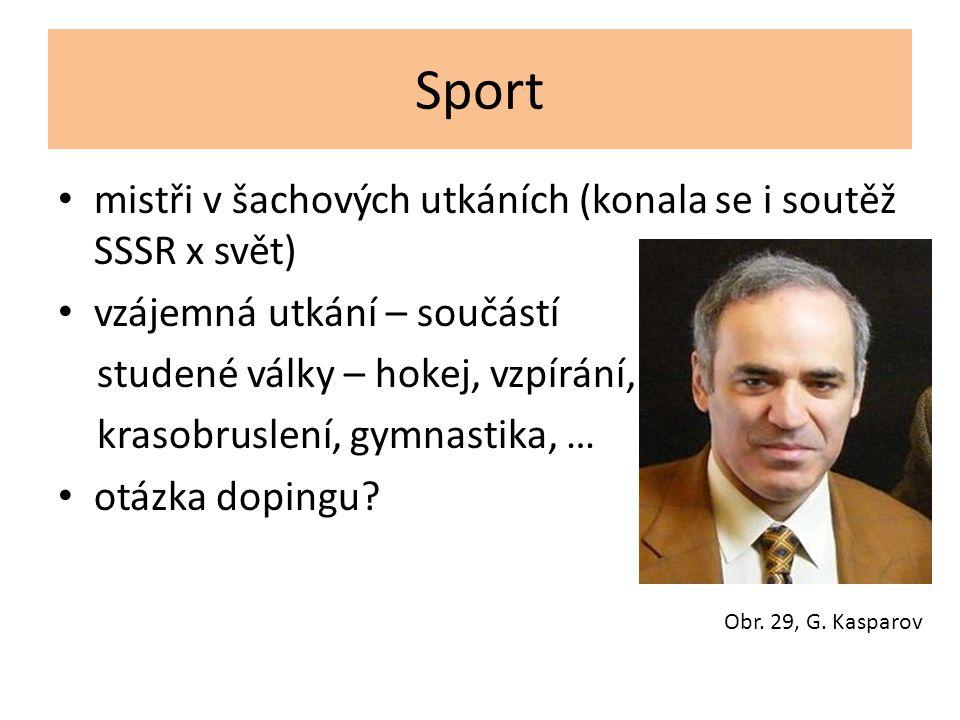 Sport mistři v šachových utkáních (konala se i soutěž SSSR x svět)