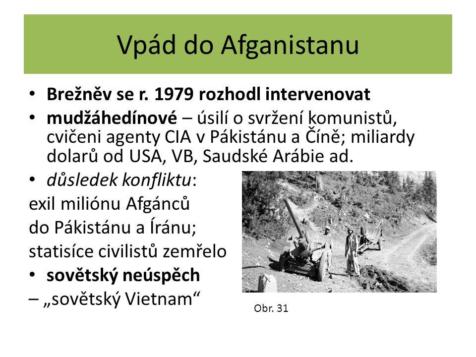 Vpád do Afganistanu Brežněv se r. 1979 rozhodl intervenovat