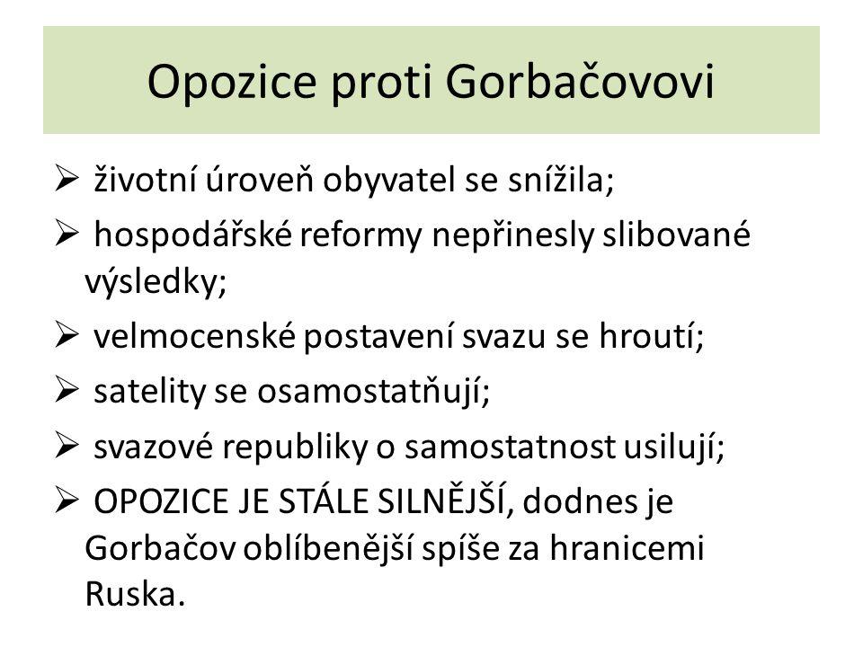 Opozice proti Gorbačovovi