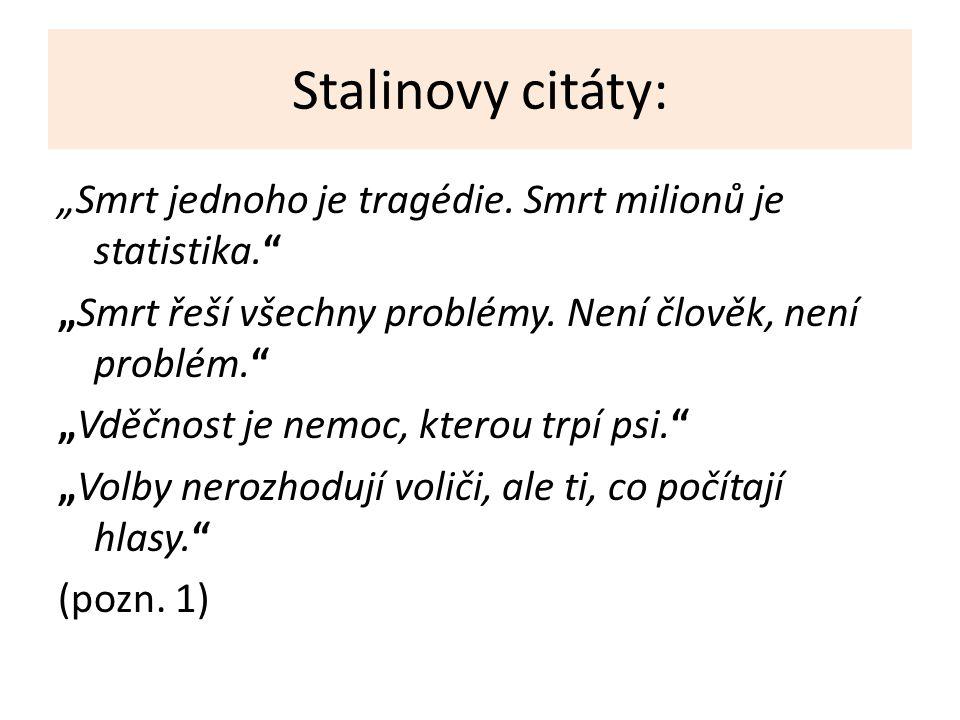Stalinovy citáty: