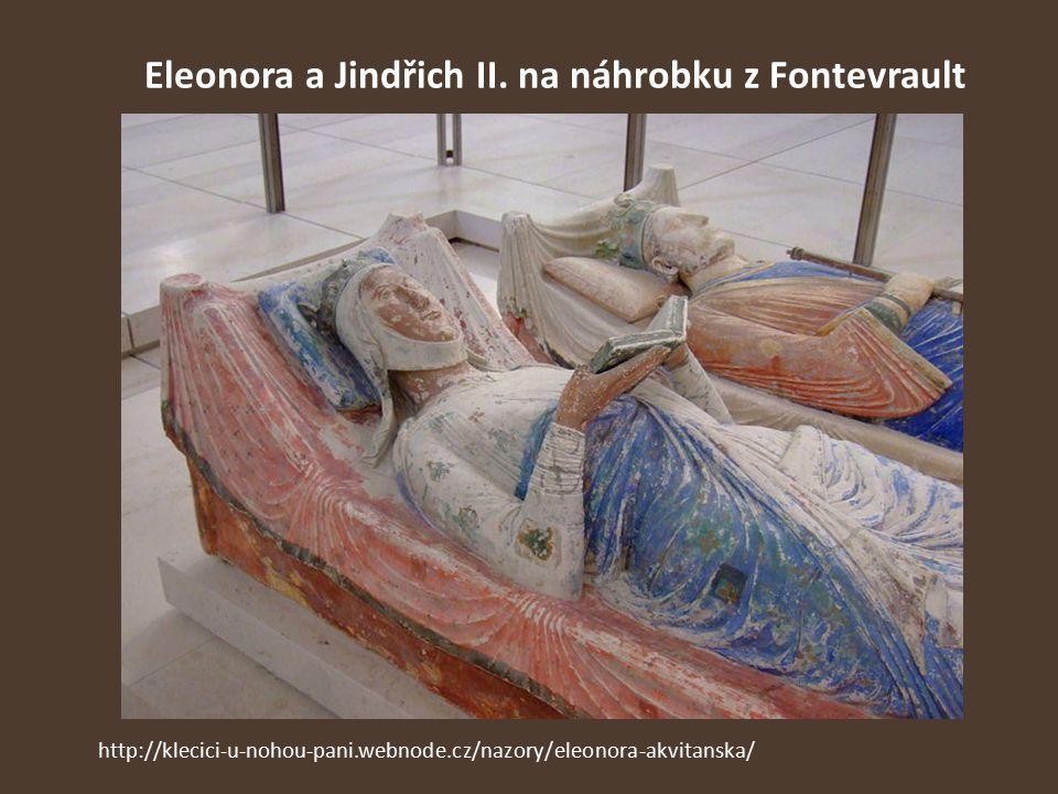 Eleonora a Jindřich II. na náhrobku z Fontevrault