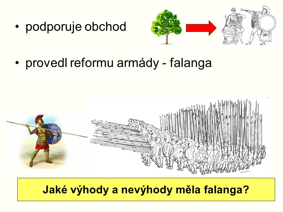 Jaké výhody a nevýhody měla falanga
