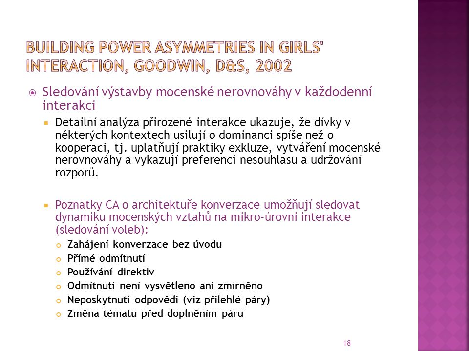 Building power asymmetries in girls interaction, Goodwin, D&S, 2002