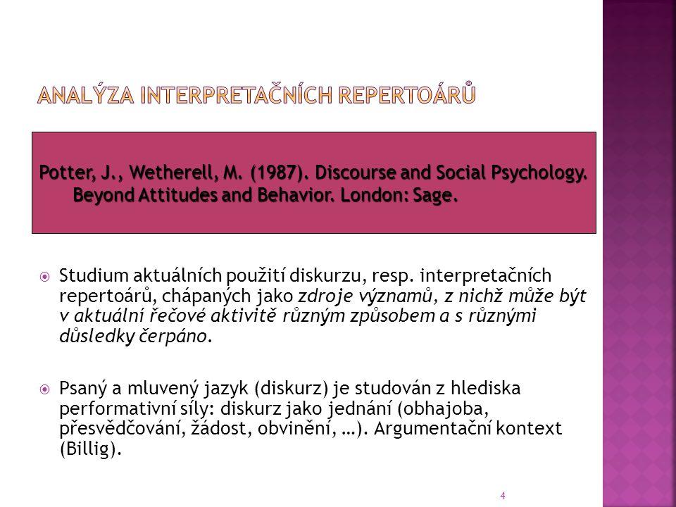 Analýza interpretačních repertoárů