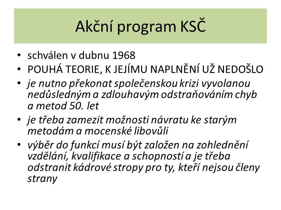 Akční program KSČ schválen v dubnu 1968