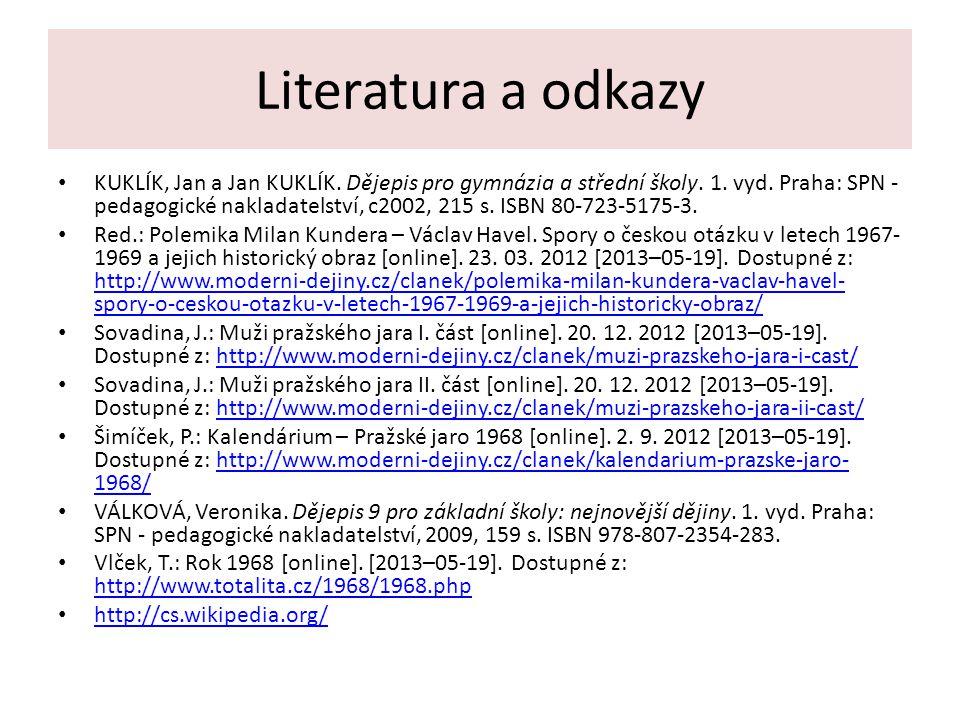 Literatura a odkazy