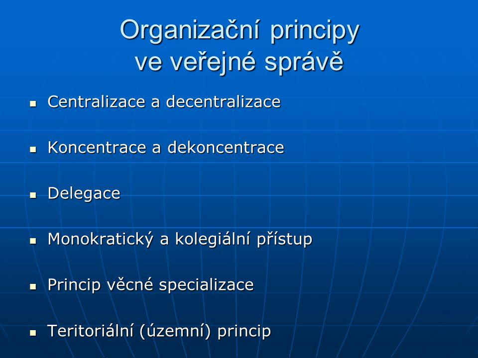 Organizační principy ve veřejné správě