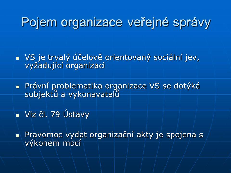 Pojem organizace veřejné správy