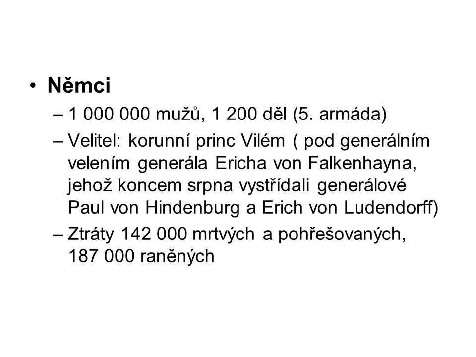 Němci 1 000 000 mužů, 1 200 děl (5. armáda)