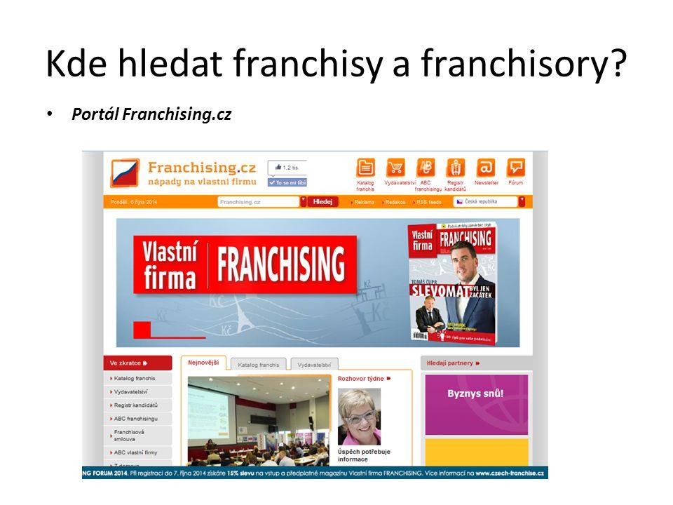 Kde hledat franchisy a franchisory
